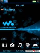 Walkman Blue Neon