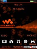 Walkman Orange Neon