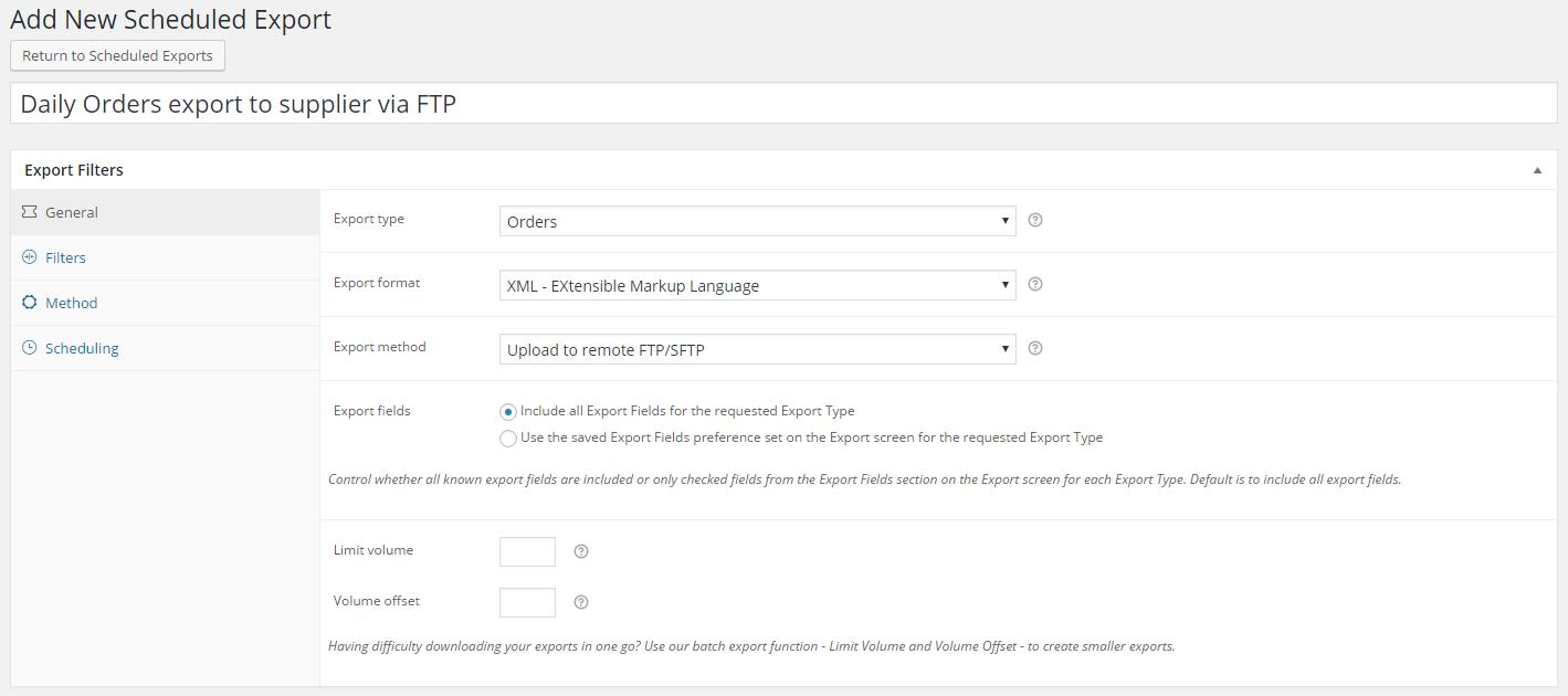 WooCommerce FTP exporting Plugin