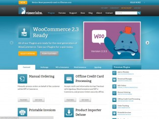 Our new storefront with featured WooCommerce Products and Products listed by Platform Attribute