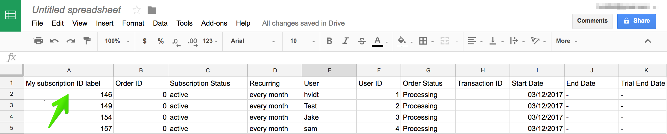 Edit WooCommerce data in Google Sheets